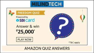 Amazon Freedom Sale Quiz Answers – Win Rs 25000 Pay Balance