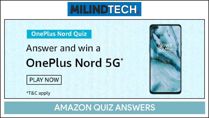 Amazon Prime Day OnePlus Nord Quiz