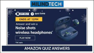 Amazon Quiz 8 August 2020 Answers Win – Noise Shots Wireless Headphones